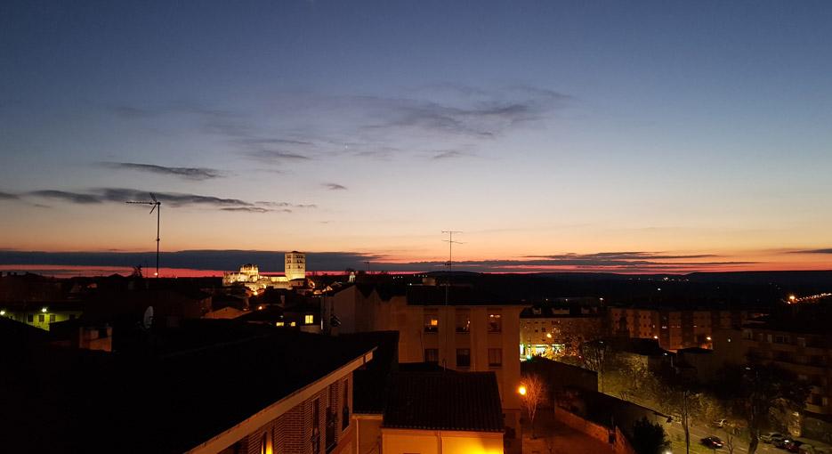 Vistas de Zamora desde la terraza