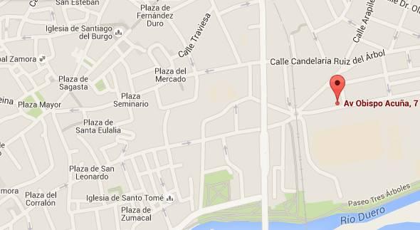 Mapa situación Apartamento Mirador